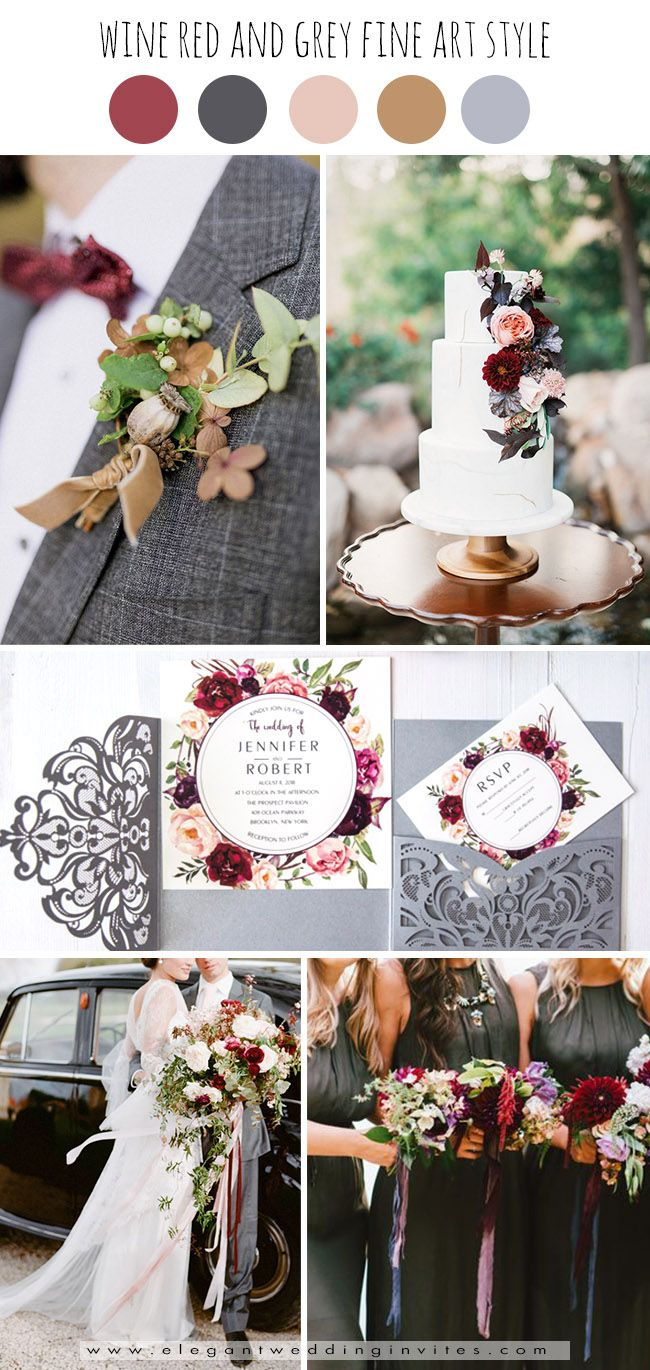 Top 6 Burgundy Dark Red Fall Wedding Colors With Matching