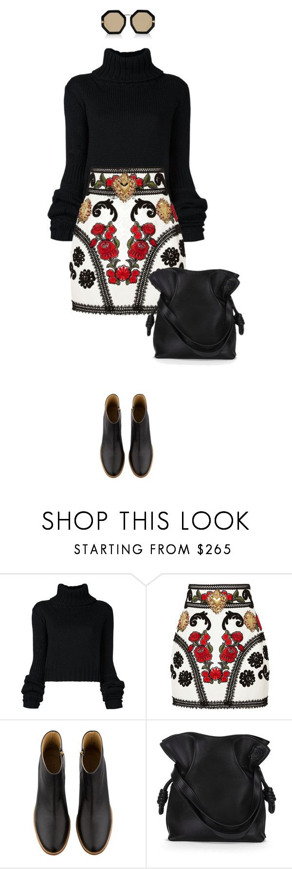 """""""L_L05"""" by evava-c ❤ liked on Polyvore featuring IO Ivana Omazić, Dolce&Gabbana, A.P.C., Loewe and Karen Walker"""