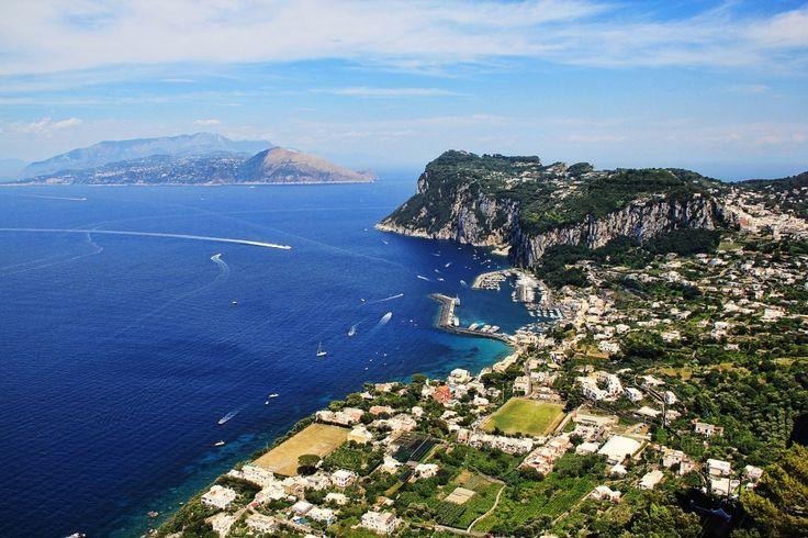 The coast of the isle of Capri