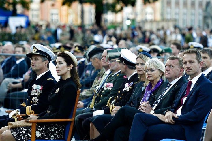Crown Princess Mary & Crown Prince Frederik attended the flag day in honor of the danish deployed soldiers at 'Kastellet' in Copenhagen