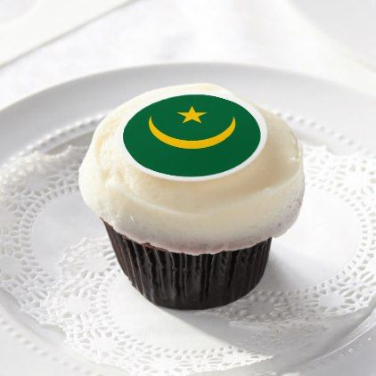 Mauritania Flag Edible Frosting Rounds - kitchen gifts diy ideas decor special unique individual customized