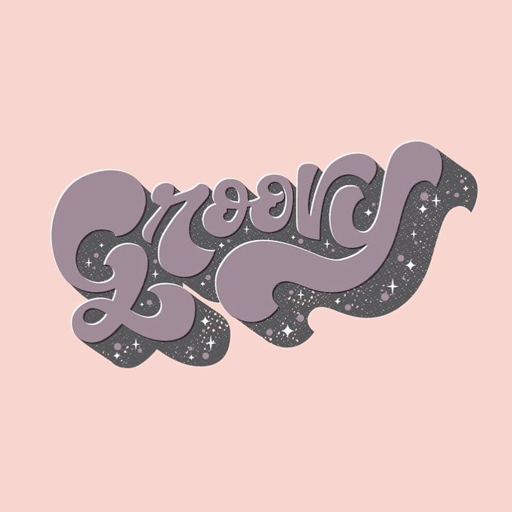 Just some groovy type ✌️ #typography #lettering