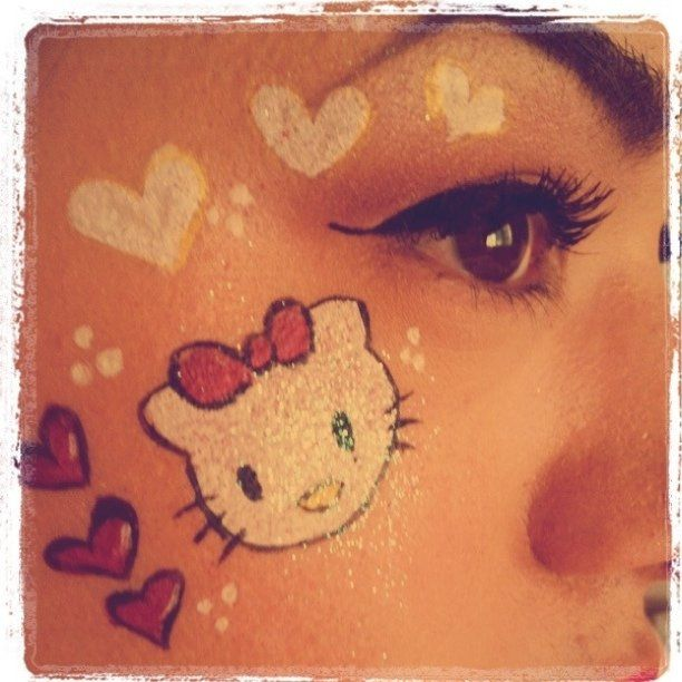 Hello Kitty face painting done @ Faith's 3rd birthday party! :0) | Flickr - Photo Sharing!