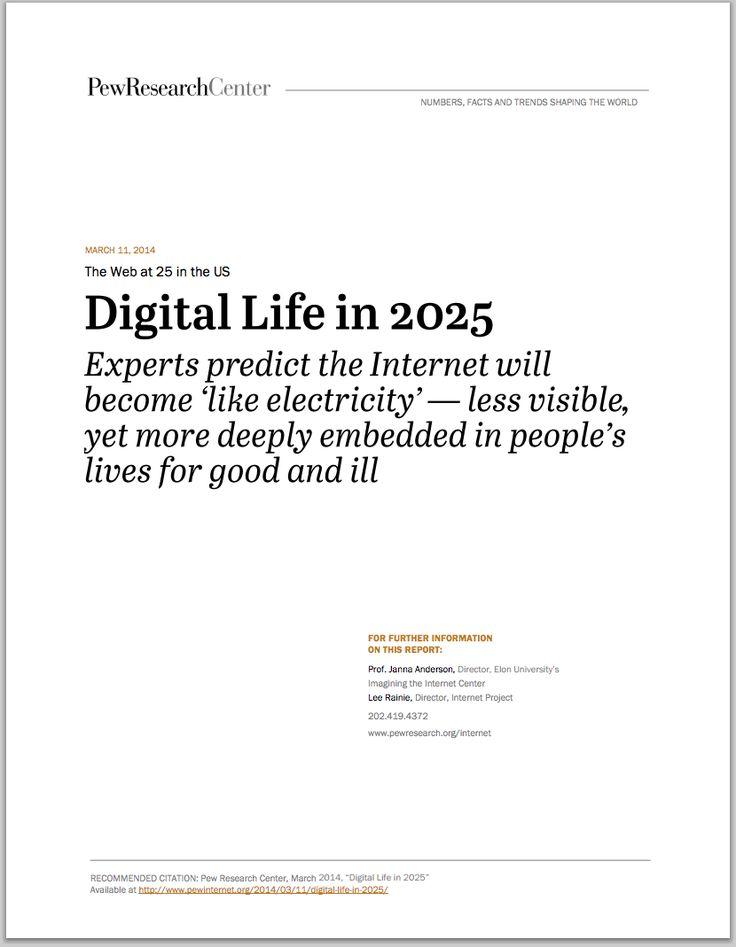 Digital Life in 2025    wwwpewinternetorg files 2014 03 - memo formats