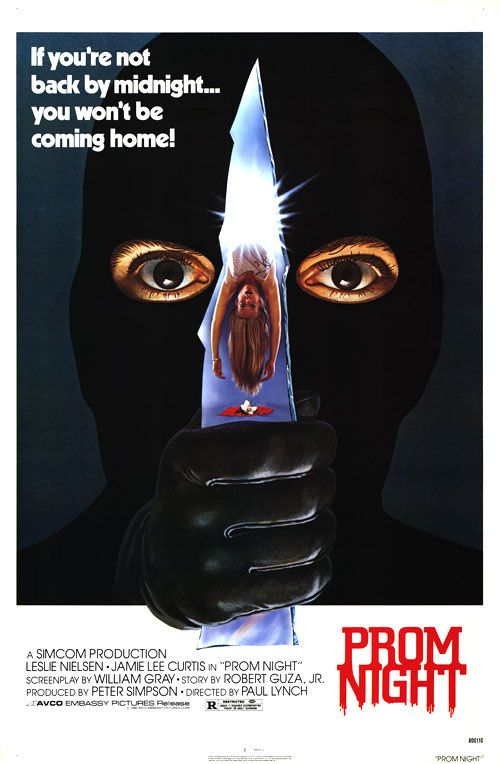 Prom Night.  The second slasher movie I ever saw after Halloween.  It's kind of mediocre in its pacing and plotting and lighting and acting, but I'll always have a soft spot in my heart for this little killer diller.  It has one of the best chase scenes ever, and what other slasher movie has a disco dance-off that is actually not played for laughs?