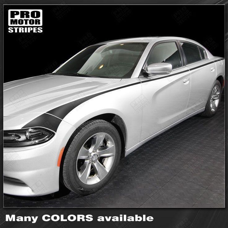 Dodge Charger 2015-2018 Javelin Side Accent Stripes Auto Decals - Pro Motor Stripes