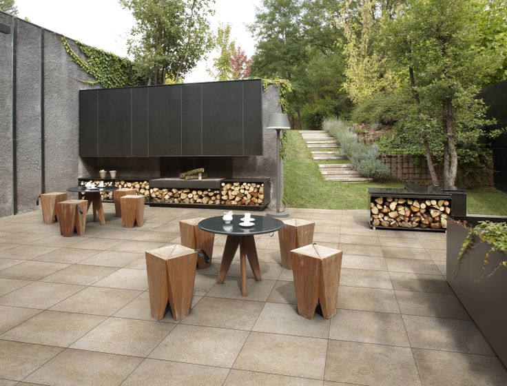 """PIETRE DI BORGOGNA Sabbia OUT2.0 60x60 (24""""x24"""") R STR. Perfect for gardens & patios, OUT 2.0 Tiles is the result of Refin's research into solutions for outdoors offering the ideal combination of performance, looks and versatility. Ideal for Outdoor Pavers."""