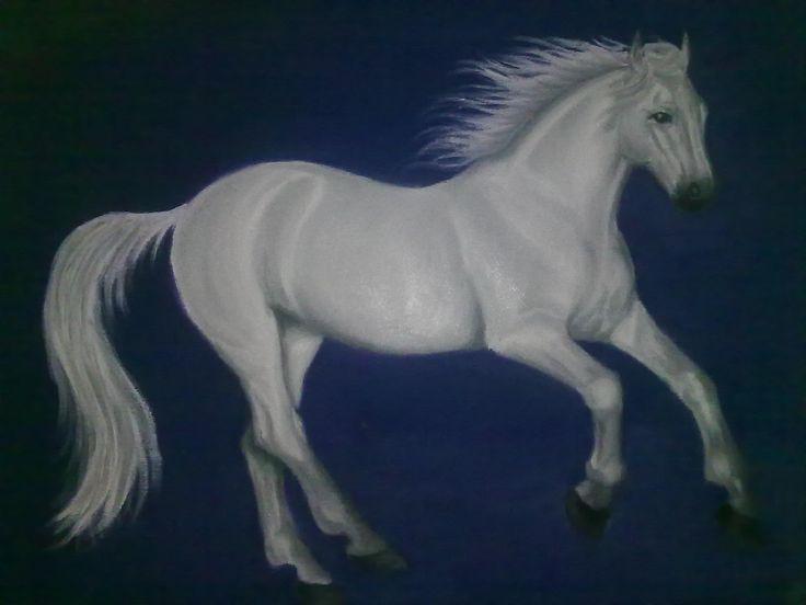 Run Free ~ Block Mounted Oil Painting by Dawn Du Preez #DawnDuPreez