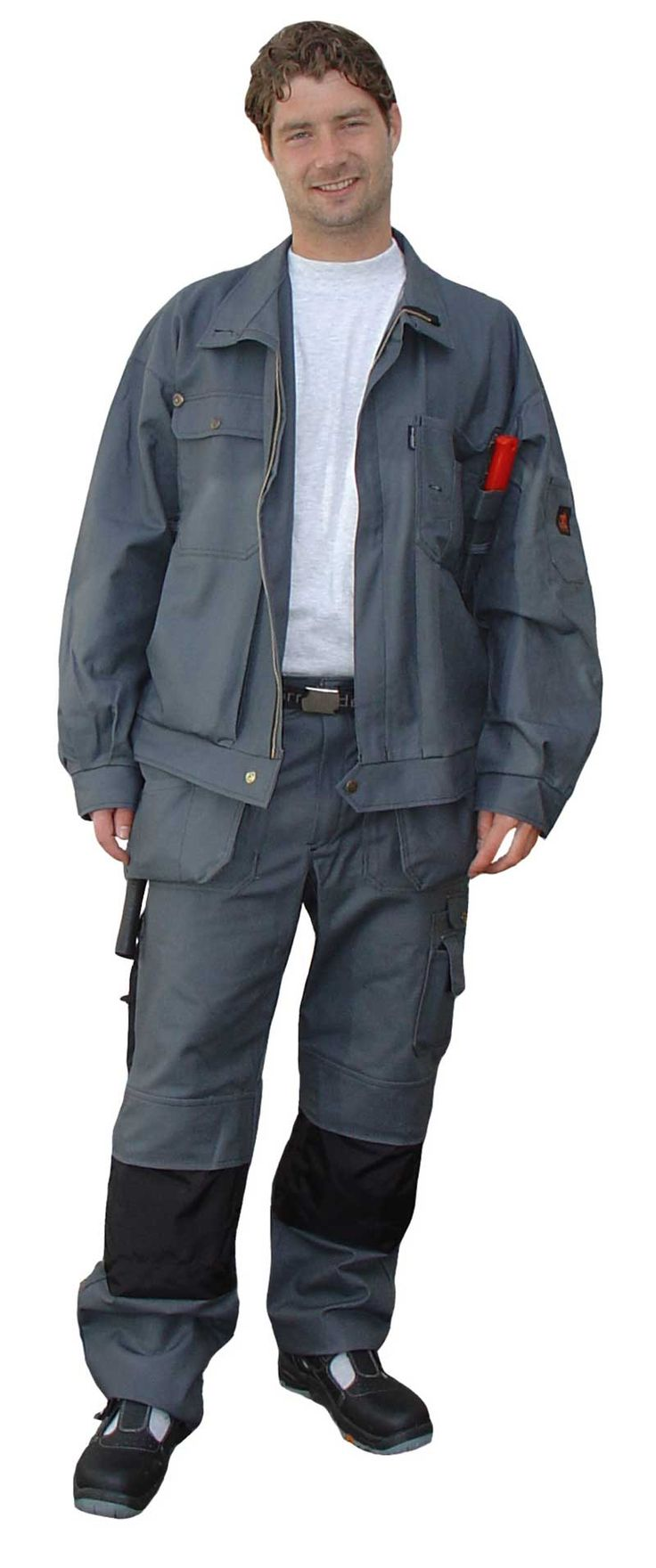 Clearance Item - CLEARANCE Items - products new home - Faceline Workwear_Carpenter_Work_Jacket_Grey by Björnkläder