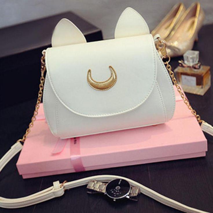 Estilo moda bolsas famosas design bonito mulheres saco do mensageiro moon sailor moon luna vega saco bolsas cat bolsas de ombro 2016 em Bolsas de Ombro de Bagagem & Bags no AliExpress.com | Alibaba Group