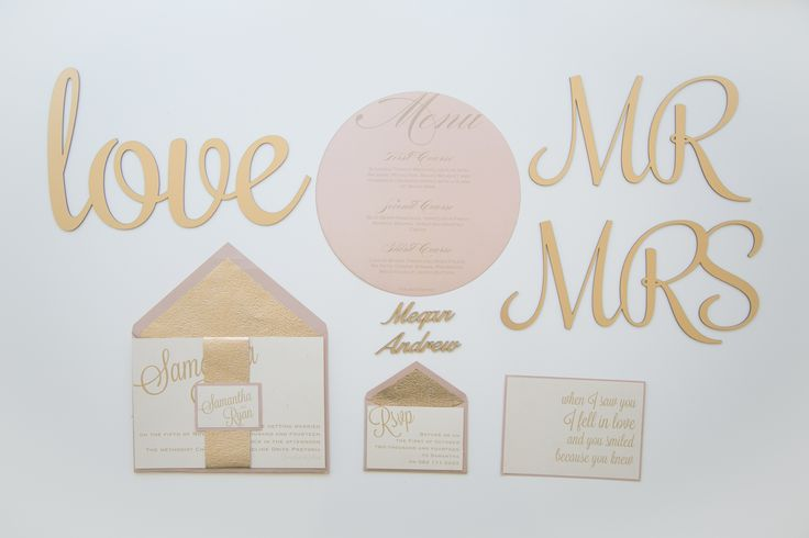 Glamorous Picnic Styled Shoot - Gold Wedding Stationery by Lily Young Designs