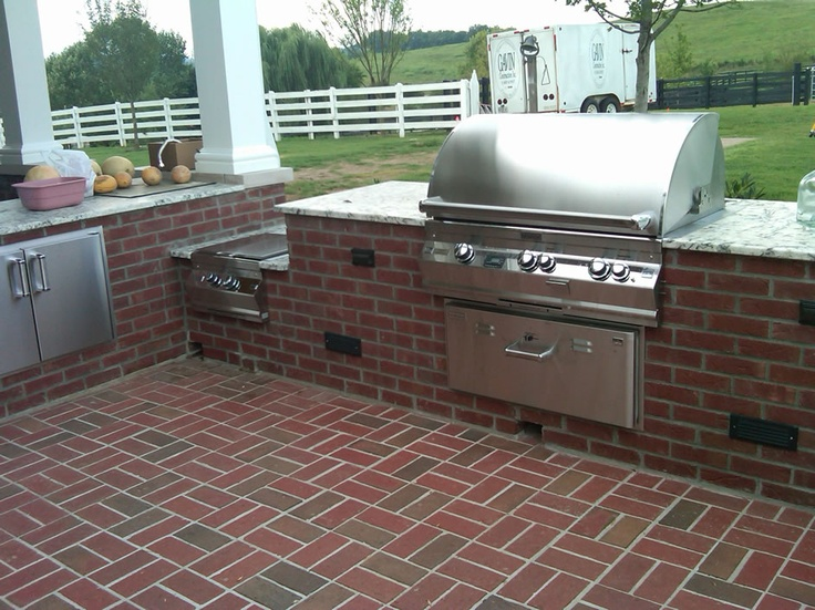 17 Best Images About Outdoor Kitchens On Pinterest Trash Bins Cats And Built In Grill