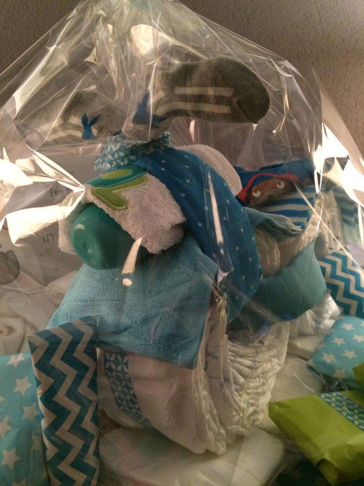 ❤️ Made by Sa'Sa - #luiertaart #motor #baby #jongen #geboorte #blauw #stoer
