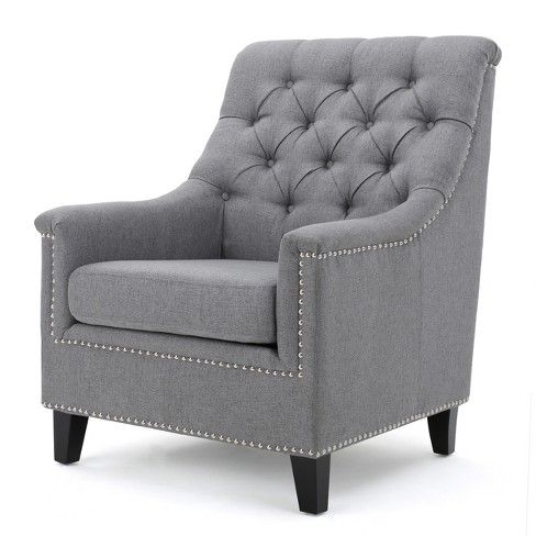Jaclyn Tufted Club Chair Christopher Knight Home Tufted Club
