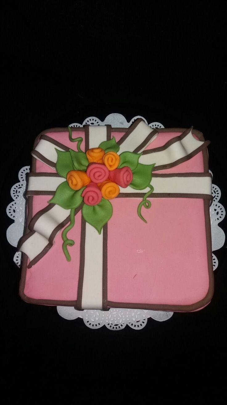 Doos taart rozen