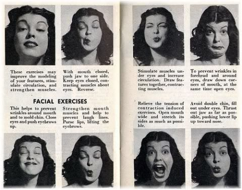 face exercise newspaper clip