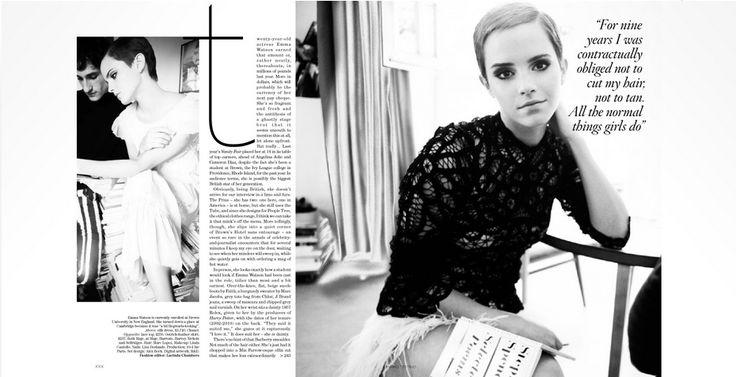 Fashion magazine double spread