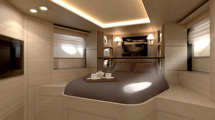 ekinoks interior / yacht interior fit out / master cabin