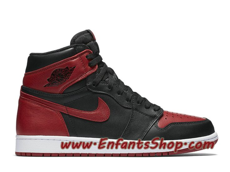 Air Jordan 1 Retro High OG Banned Chaussures Nike Officiel Pas Cher Pour  Homme Rouge Noir