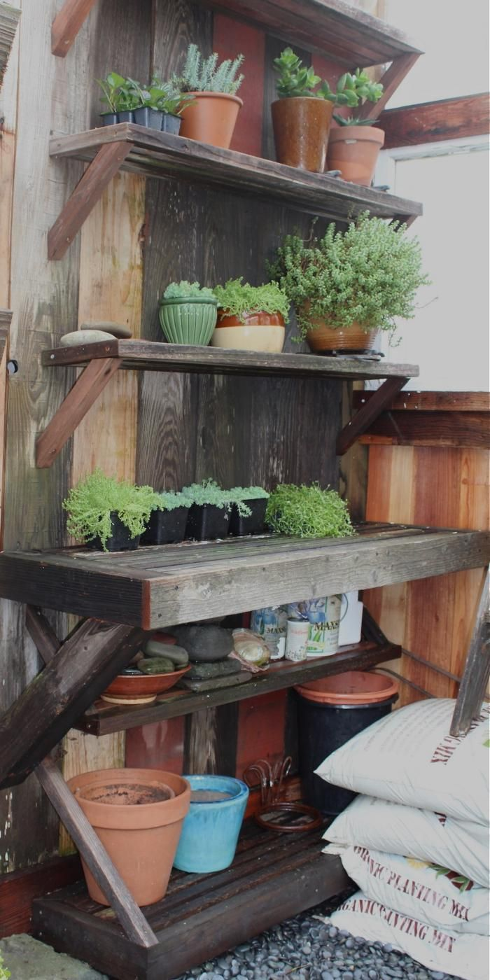 A Potting Shed made of recycled scraps in San Francisco via Outerlands l Gardenista