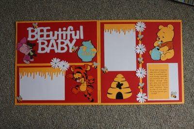 Sure Scraps A Lot: Winnie The Pooh Baby Album