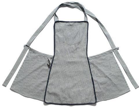 ladies-cotton-stripe-cross-back-apron-pocket-8