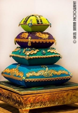 Indian Weddings Inspirations. Blue Wedding Cake. would also look amazing in ivory or the wedding colours for a western wedding