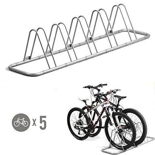 5 Bike Floor Stand Bicycle Storage Rack Stands Parking Holder Garage Bicycles  #5BikeFloorStand