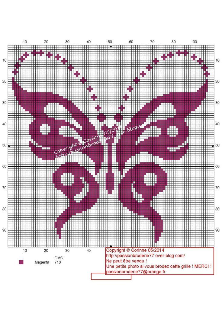 Papillon magenta