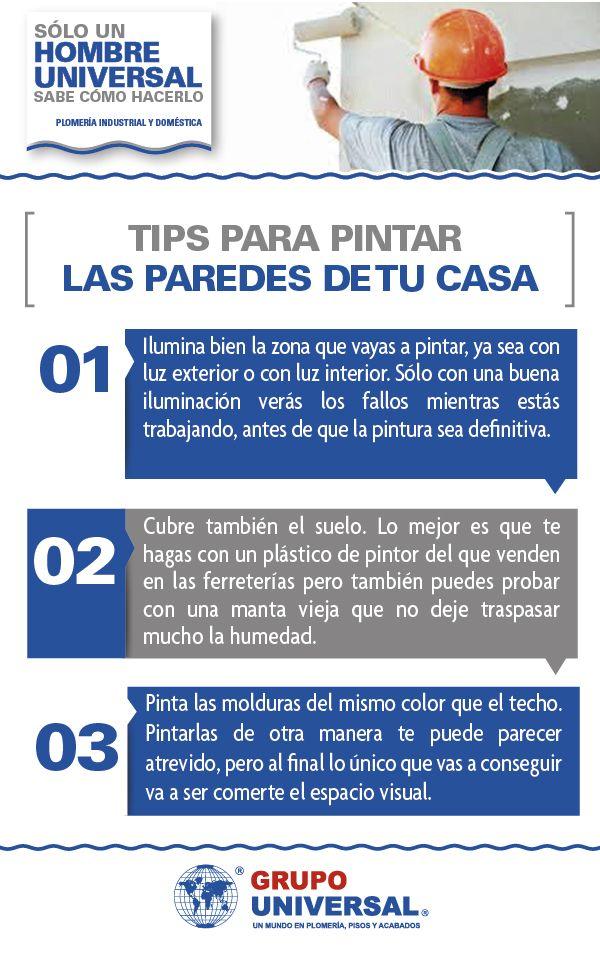 Checa estos tres tips para pintar las paredes de tu casa - Consejos para pintar ...