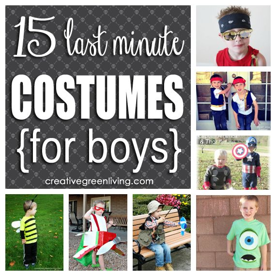 15 last minute costumes for boys that wont break the bank - Last Minute Toddler Halloween Costumes