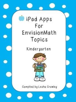 iPad Apps For EnVision Math Topics - Kindergarten