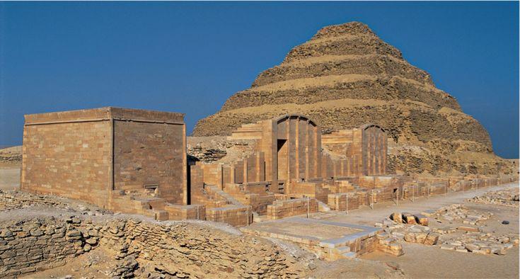 Imhotep, Stepped Pyramid of Djoser Saqqara c. 2681-2662 ...