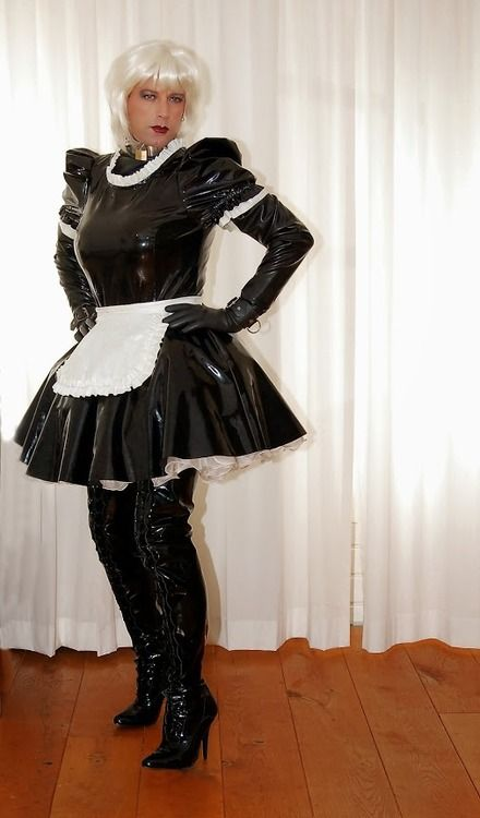 Pin von Alicetv Müller auf latex and pvc CD | Sissy maid ...