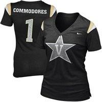 Nike Vanderbilt Commodores Ladies Replica Football V-Neck Premium T-Shirt