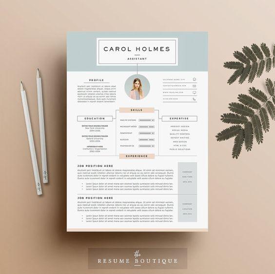 10 ides de CV simples et inspirants en 2017  dveloppement personnel  Pinterest  Cv ideas