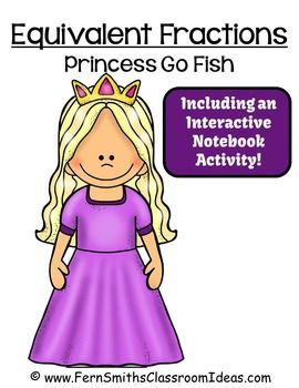 This Go Princess! Go Fish Card Game focuses on Equivalent Fractions!This FREE Center Game has...*Center Game Cards in Color*Student Directions*File Folder Cover*Teacher Directions*Self-Checking Answer Sheet*Interactive Notebook Activity*Interactive Notebook Activity Answer KeyThis center game is designed to be printed, cut apart for your classroom and laminated if desired.