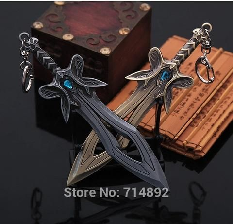"DOTA 2 Butterfly Sword Keychains/ Pendant 6""/15cm"