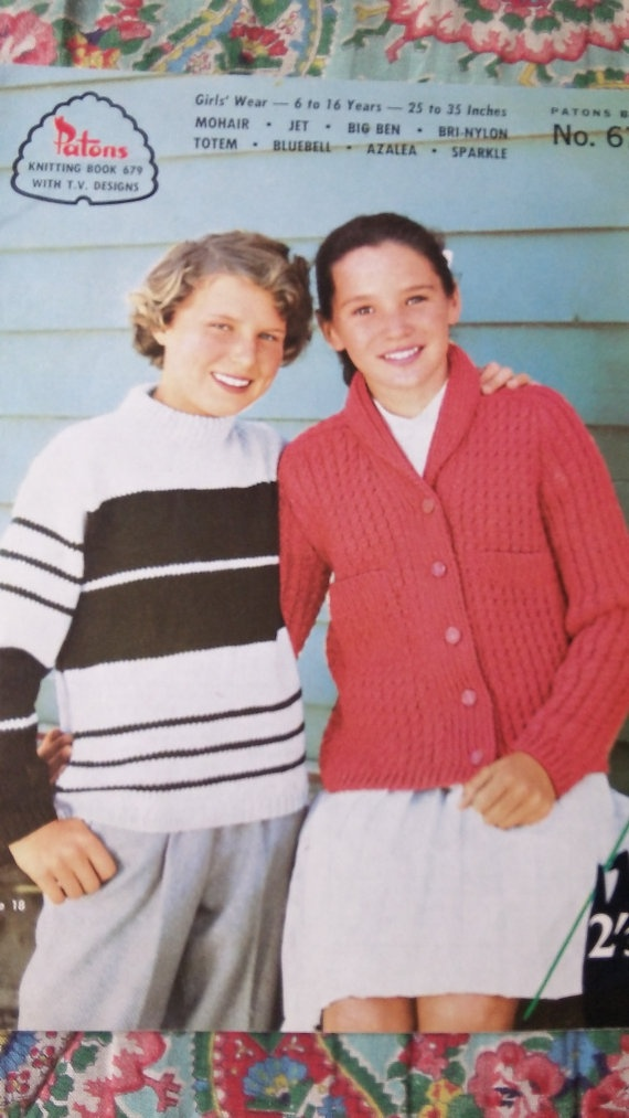 Vintage Patons childrens knitwear pattern book by Gladyswasagirl, $7.00