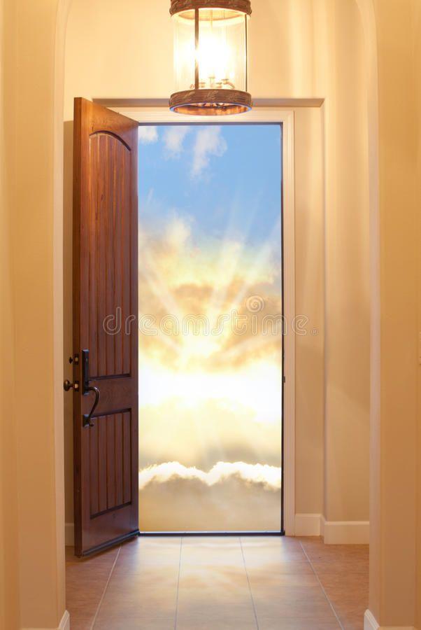 Heavenly Door Hallway With Lit Chandelier Leading To An Open Door Representing Sponsored Chandelier Leading Open Lit Heav Heaven Doors Chandelier