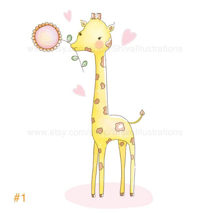 Bambini illustrazione - vivaio Art Print - giraffa carino di ShivaIllustrations su Etsy https://www.etsy.com/it/listing/208100521/bambini-illustrazione-vivaio-art-print