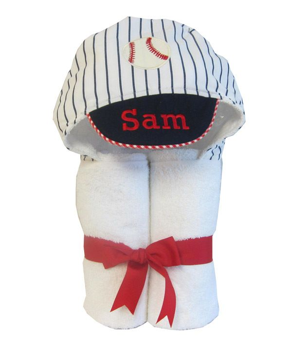 76 best baby gifts made in america images on pinterest baby gifts 3 marthas baseball towel personalized baby gift negle Image collections
