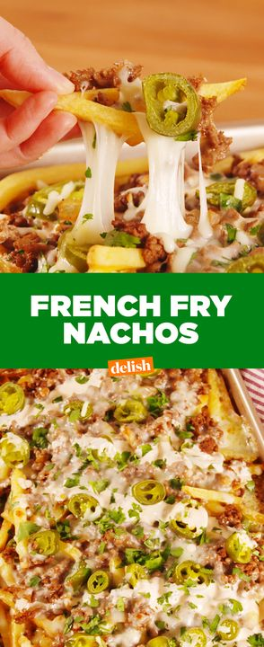 The spicy sour cream isn't the only thing making these nachos next-level.  Get the recipe from Delish.com.