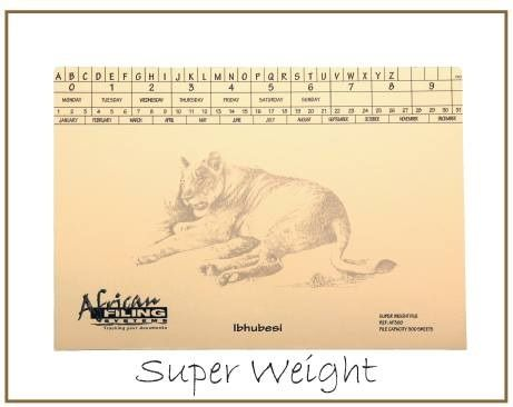 Super weight - Lion (Ibhubesi) - AFSWF300 capacity 300 sheets.