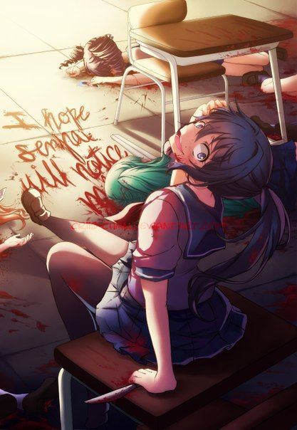 ((Open RP I'll be Yandere-Chan)) *laughs uncontrollably* Ohhhhhh senpaiiiiiiii!!! *laughing* I did it just for youuuu!!!