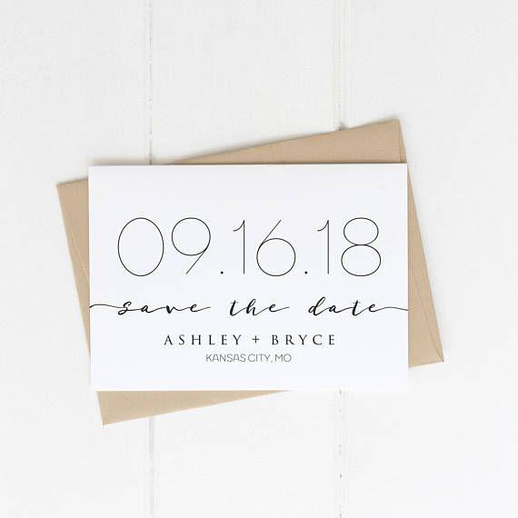 Modern Save The Date #weddings #ad #invitation