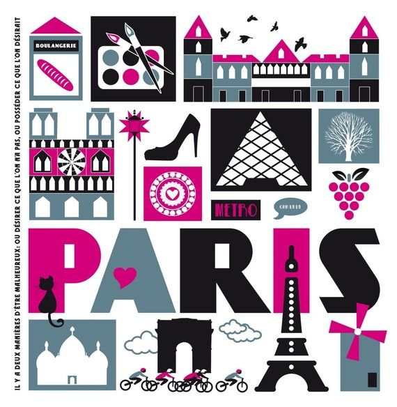 Fun Paris themed print.