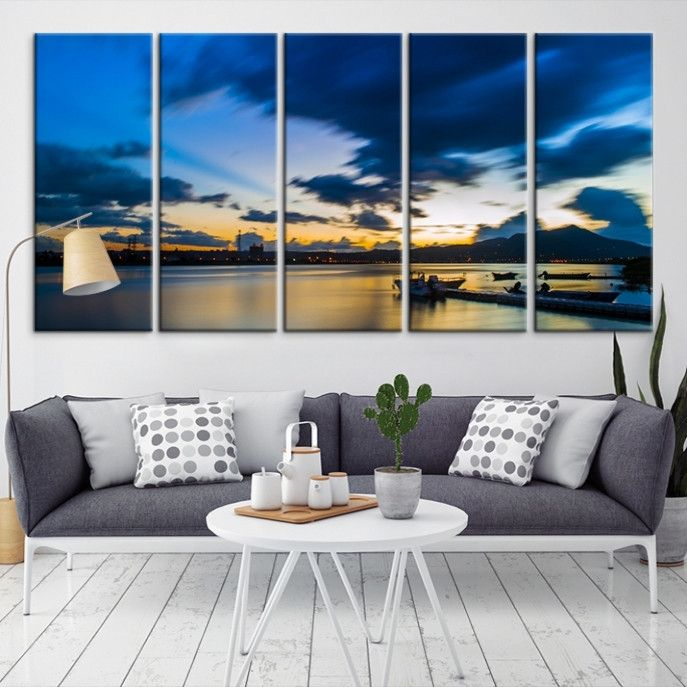 19981 - Sea and Beach Wall Art Large Canvas Print