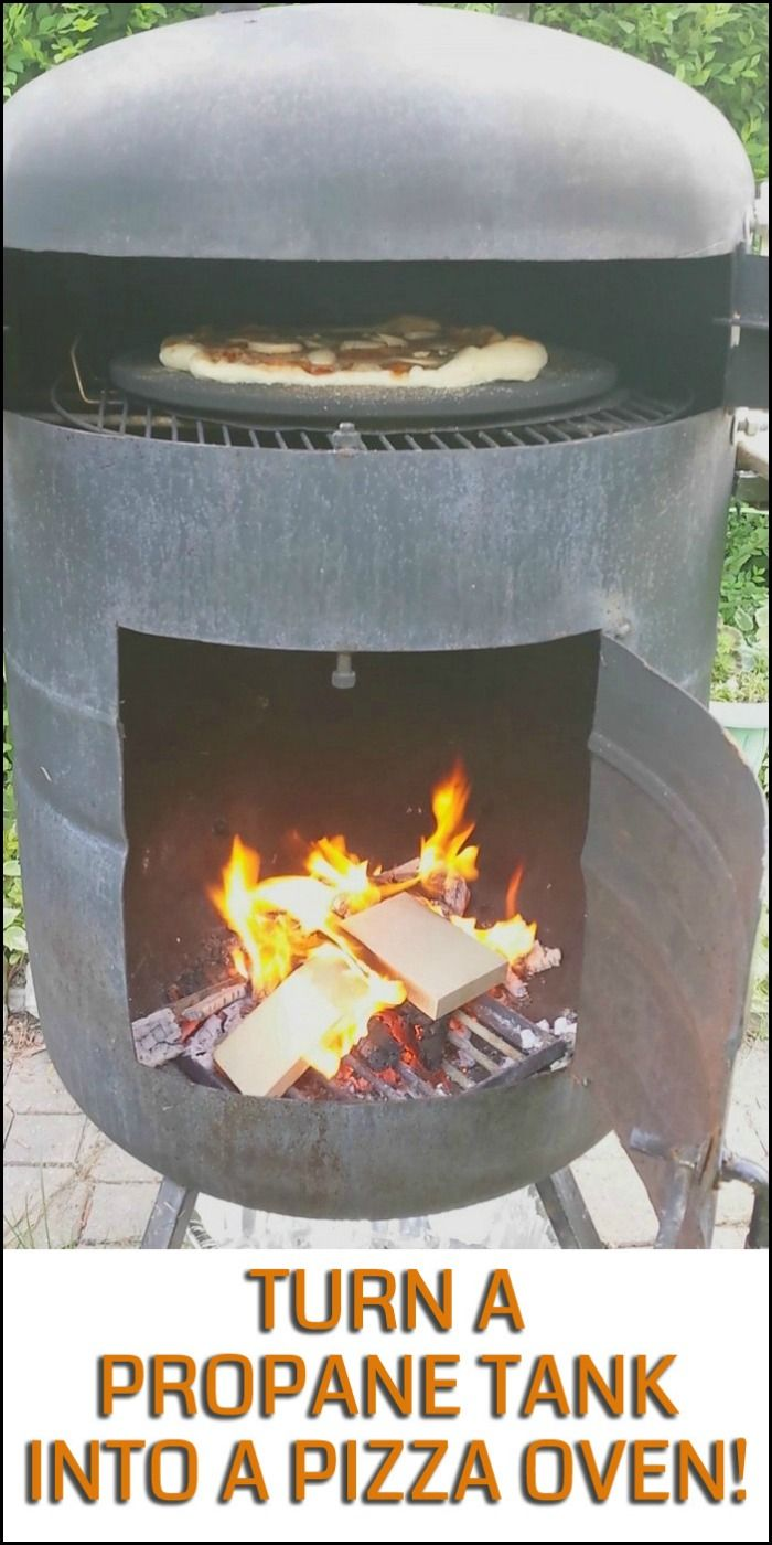Build yourself an awesome pizza oven using a propane tank! Do you know anyone who'd like this idea too? ;)