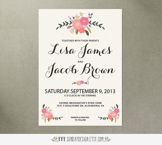 Afternoon Tea Wedding Invitation - DIY Printable
